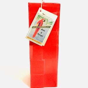 Red Vertical and Rectangular Candle Handmade Artisan