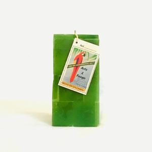 Green Vertical and Rectangular Candle Handmade Artisan