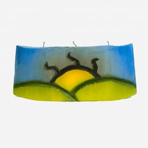 Colorful Rectangular and Horizontal Handmade Candle