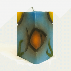 Vertical Rectangle with a Fish Figure Handmade Candle by Artisan